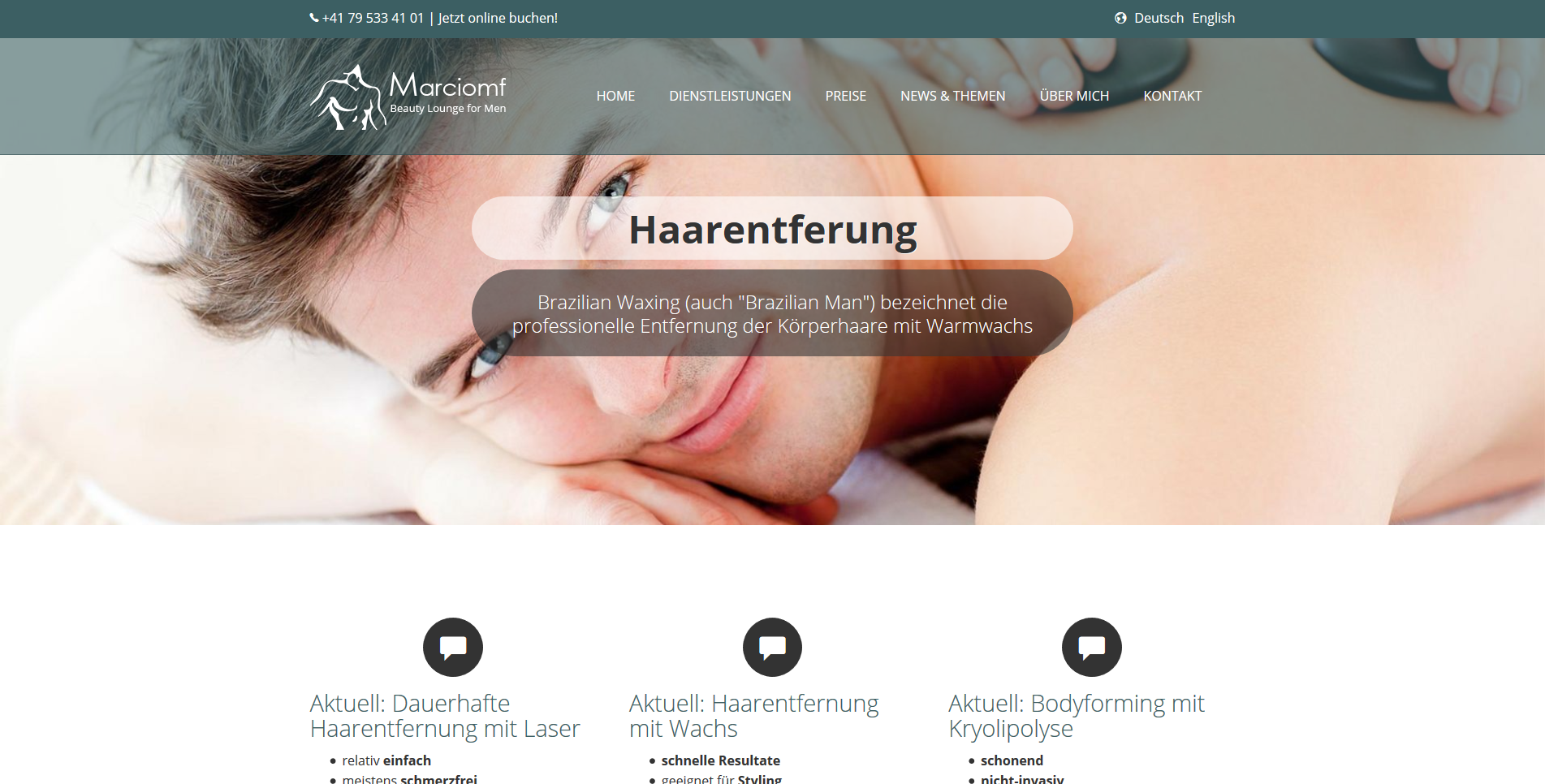 Beauty Lounge For Men - Haarentfernung für M&