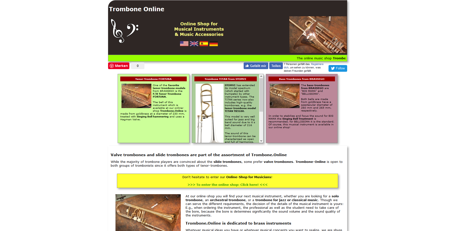 Trombone Online - shop world of trombonists