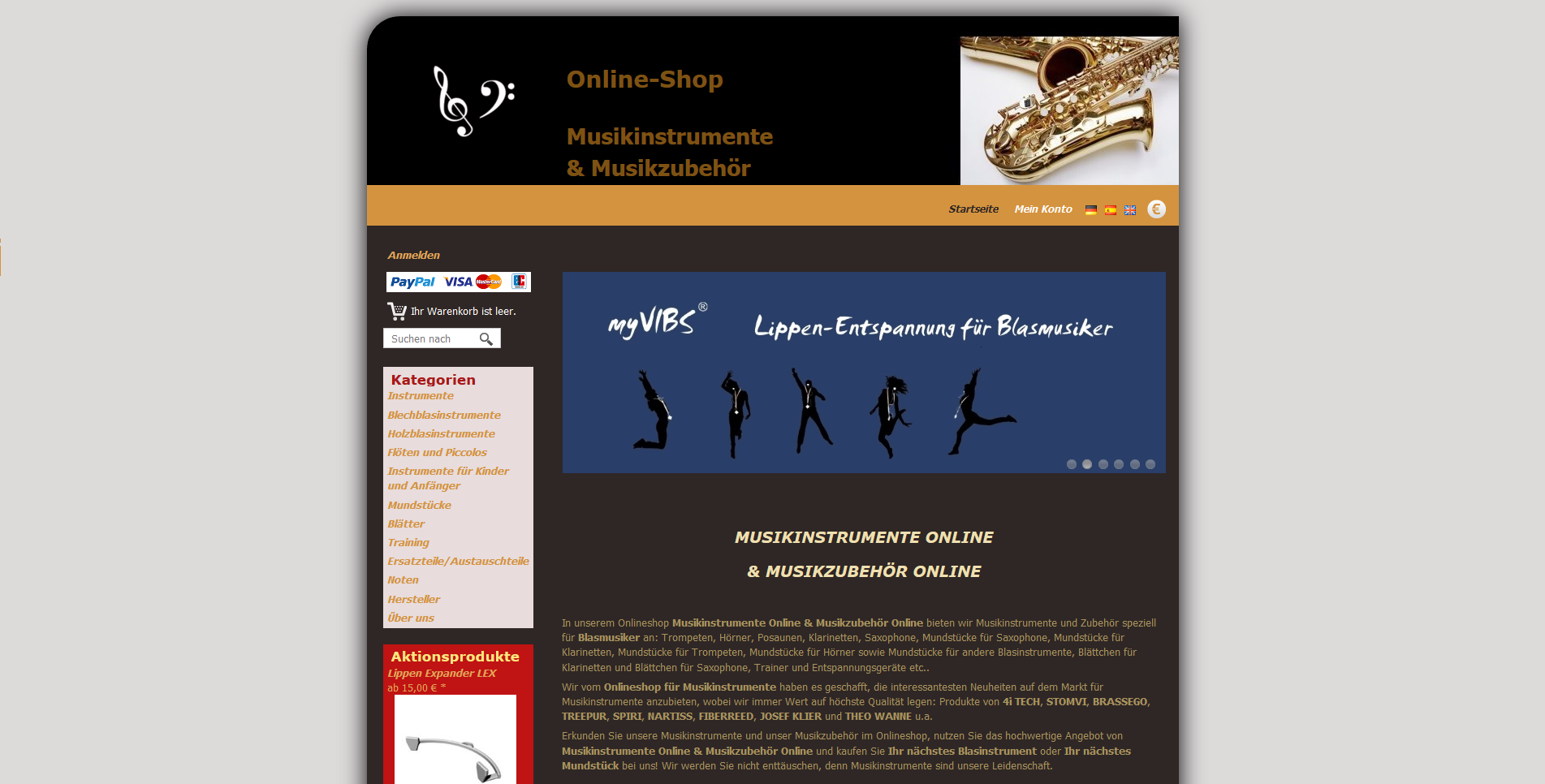 Musical Instruments Online - online shop for music